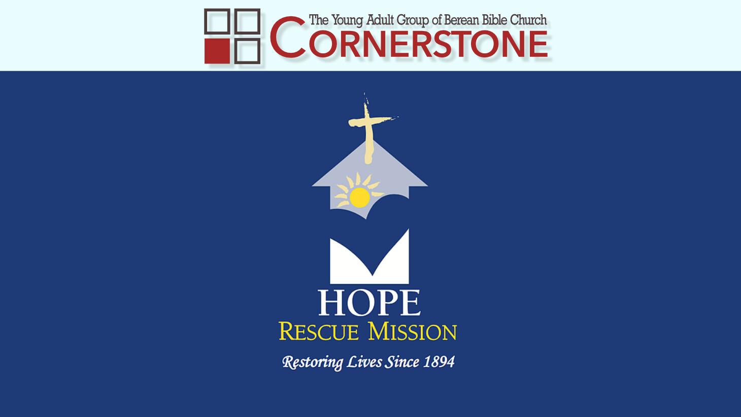 Cornerstone - Hope Rescue Mission